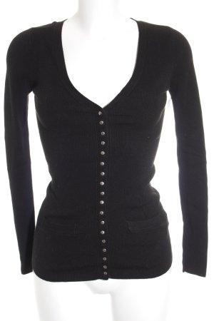 Zara Cardigan noir-argenté style décontracté