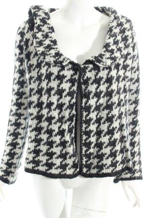 Zara Cardigan schwarz-weiß Hahnentrittmuster Casual-Look