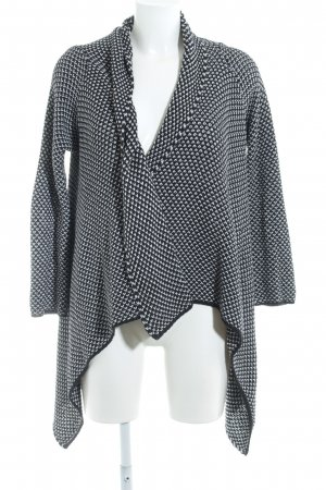 Zara Cardigan schwarz-weiß meliert Casual-Look