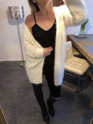 Zara cardigan Strick Jacke Kuschel Flausch Pullover Creme weiß