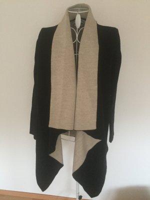 Zara Tricots noir-crème tissu mixte