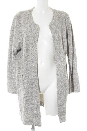 Zara Cardigan weiß-schwarz meliert Casual-Look