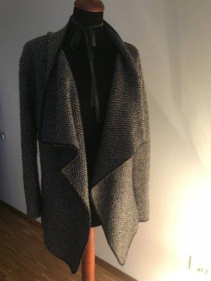 Zara Cache-cœur en tricot beige-brun foncé