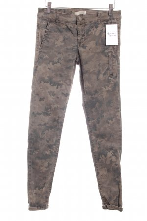 Zara Cargohose grüngrau-dunkelgrün Camouflagemuster Military-Look