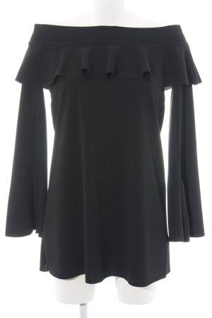 Zara Blouse Carmen noir style décontracté