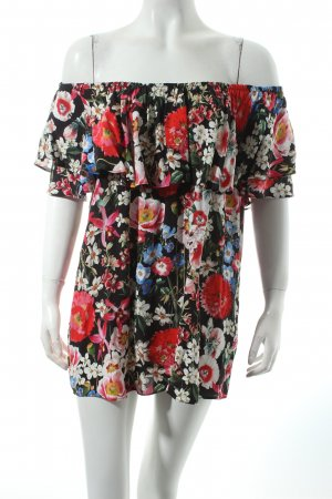 Zara Carmen-Bluse florales Muster Romantik-Look