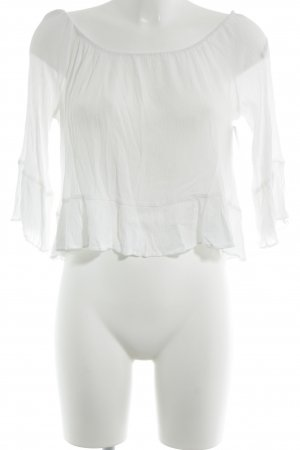Zara Blouse Carmen blanc élégant