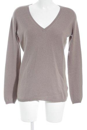 Zara Cashmerepullover taupe-grauviolett Casual-Look