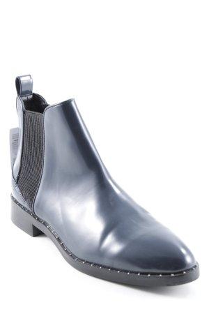 Zara Chelsea laarzen donkerblauw wetlook