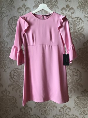 ZARA Chiffon Kleid in Rosé Größe XS
