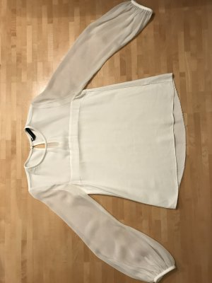 Zara Blusa de seda blanco