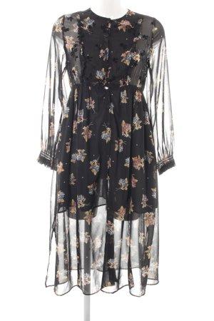 Zara Chiffonkleid Blumenmuster 60ies-Stil
