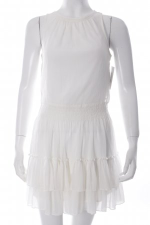 Zara Chiffonkleid creme Romantik-Look
