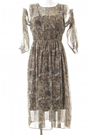 Zara Vestido de chifón estampado floral estilo romántico
