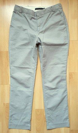 Zara Woman Pantalon chinos gris clair