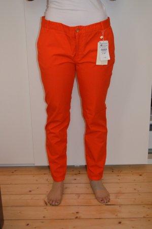 Zara Chino Orange * NEU * Größe 40