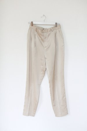 Zara Chino Silk Vintage Look Tailored Pants Nude Gr. M Oversized