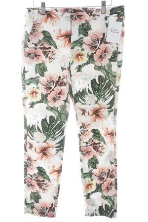 Zara Chinos flower pattern casual look