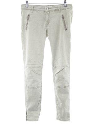 Zara Pantalon chinos gris vert style décontracté