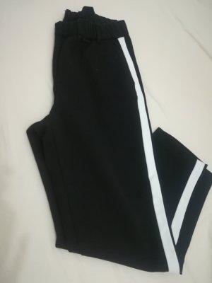 Zara Pantalon blanc-noir