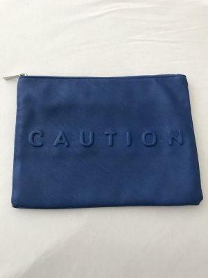 Zara Clutch blue-silver-colored