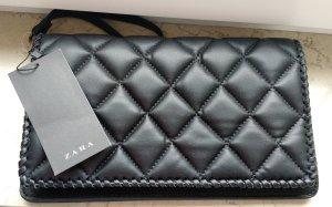 ZARA Clutch Gesteppt Damentasche Schwarz Neu pochette blogger trend geschenk
