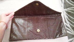 Zara Clutch brown-cognac-coloured