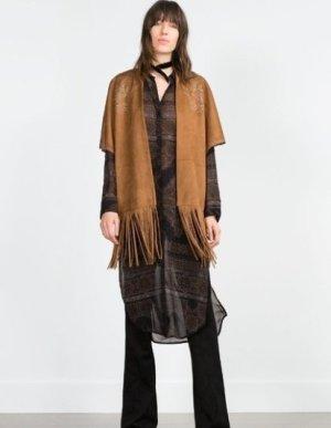 Zara Coachella Jacke NP:69,90€ Hippie Indie Ethno Fransen neu und ungetragen