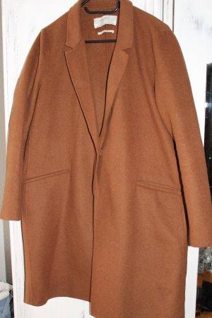 Zara Coat Mantel Oversize Cognac Braun