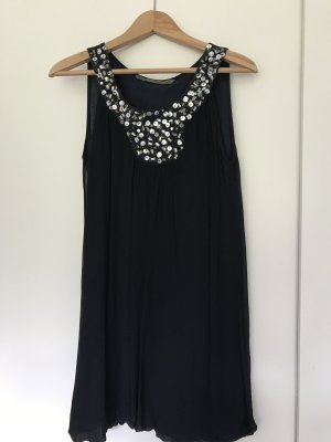 Zara Cocktailkleid, dunkelblau mit Steinchen, Gr. S