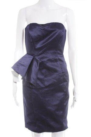 Zara Robe de cocktail violet foncé style mouillé