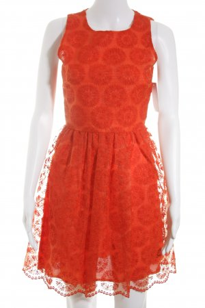 Zara Cocktail Dress red Embroidered ornaments