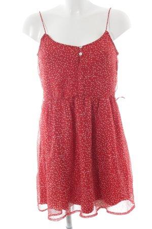 Zara Cocktailkleid rot-weiß Punktemuster Casual-Look