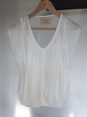 Zara Blouse transparente blanc cassé