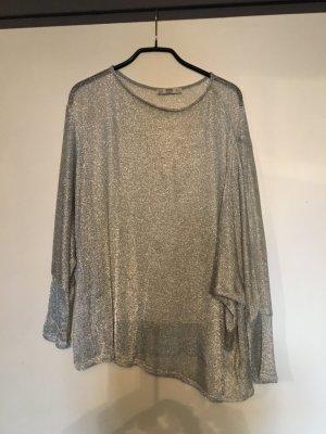 Zara Woman Pullover all'uncinetto argento