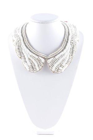 Zara Collier zilver-wit extravagante stijl