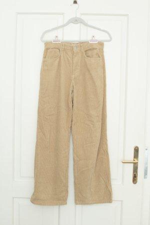 Zara Cordhose Wide Leg Gr. 36 - beige
