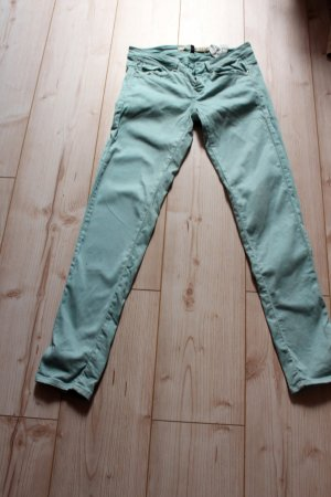 Zara Core Denim Slim Trafaluc Collection Größe S M 38 Türkis Röhrenjeans Jeans