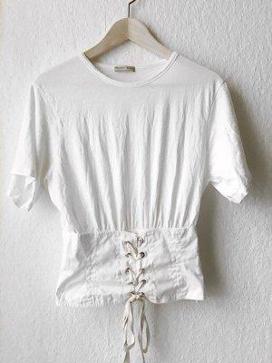 Zara Corsagen Oberteil Shirt, Gr. L (M)