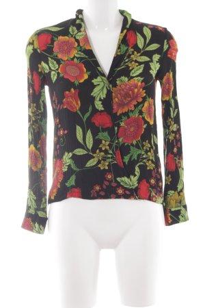 Zara Crash-Bluse Blumenmuster Casual-Look