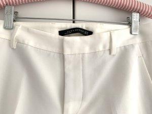 Zara Woman Pantalon 7/8 blanc cassé