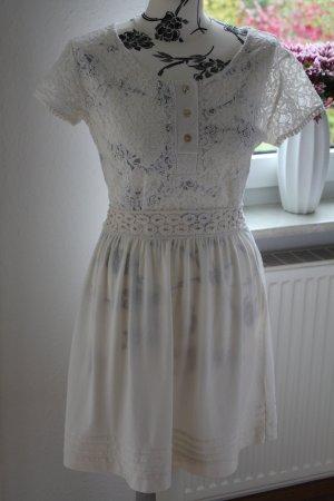 Zara Robe trapèze blanc cassé-crème