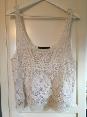 Zara Crochet Top L