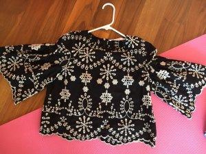 Zara Crop Bluse