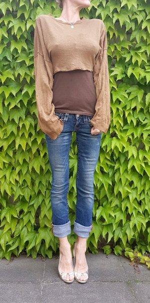 zara crop knit sweater oliv grün