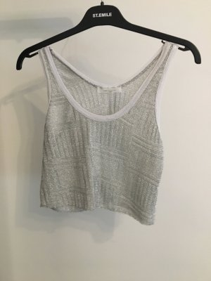 ZARA Crop Top Metallic Silber