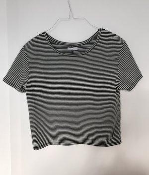 Zara Crop Top Shirt gestreift L (S/M) Ringelshirt