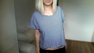 Zara cropped Basic shirt gestreift streifen