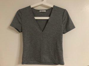 Zara Trafaluc Cropped Shirt grey-dark grey