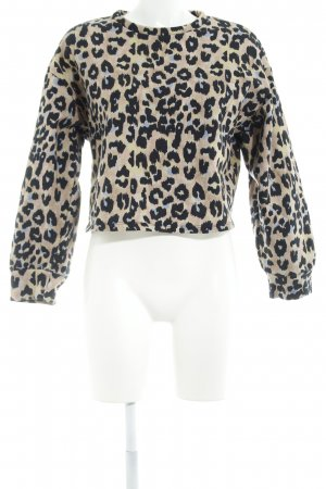 Zara Camisa recortada estampado de leopardo estampado animal